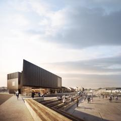 Previous iteration - image from May 2017: View of performance space - phase 2 of the South Quay development in Hayle by Feilden Clegg Bradley Studios  Source:Forbes Massie